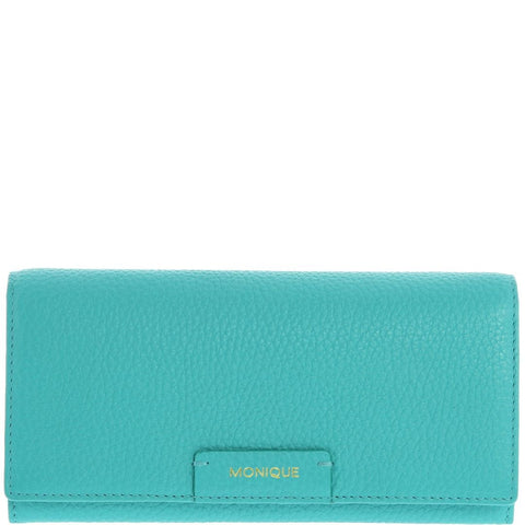 Monique-Amiya Leather Wallet-TURQUOISE-Womens Wallet - Gabee Bags | Gabee.com.au - 1