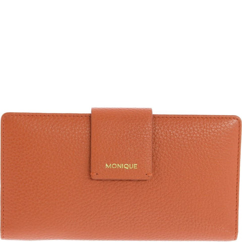Monique-Myra Leather Purse-CORAL-Womens Wallet - Gabee Bags | Gabee.com.au - 3