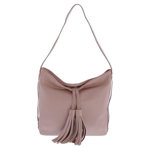 Cynthia Leather Slouch with Tassel
