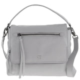 Elaina Leather Monogram Foldover Shoulder Bag