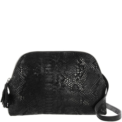 Monique-Paris Crossbody Bag-BLACK SNAKE-Crossbody Bag |Gabee.com.au leather, Bags & Accessories since 1949 - 3