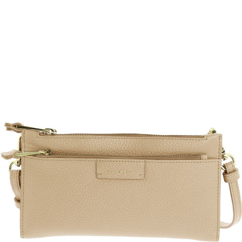 Kiara Leather Wristlet Clutch