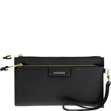 Marina Leather Wristlet Clutch
