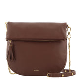 Mirella Leather Saddle Bag
