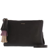 Naraya Leather Tassle Crossbody Pouch