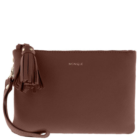 Lilia Leather Small Zip Pouch