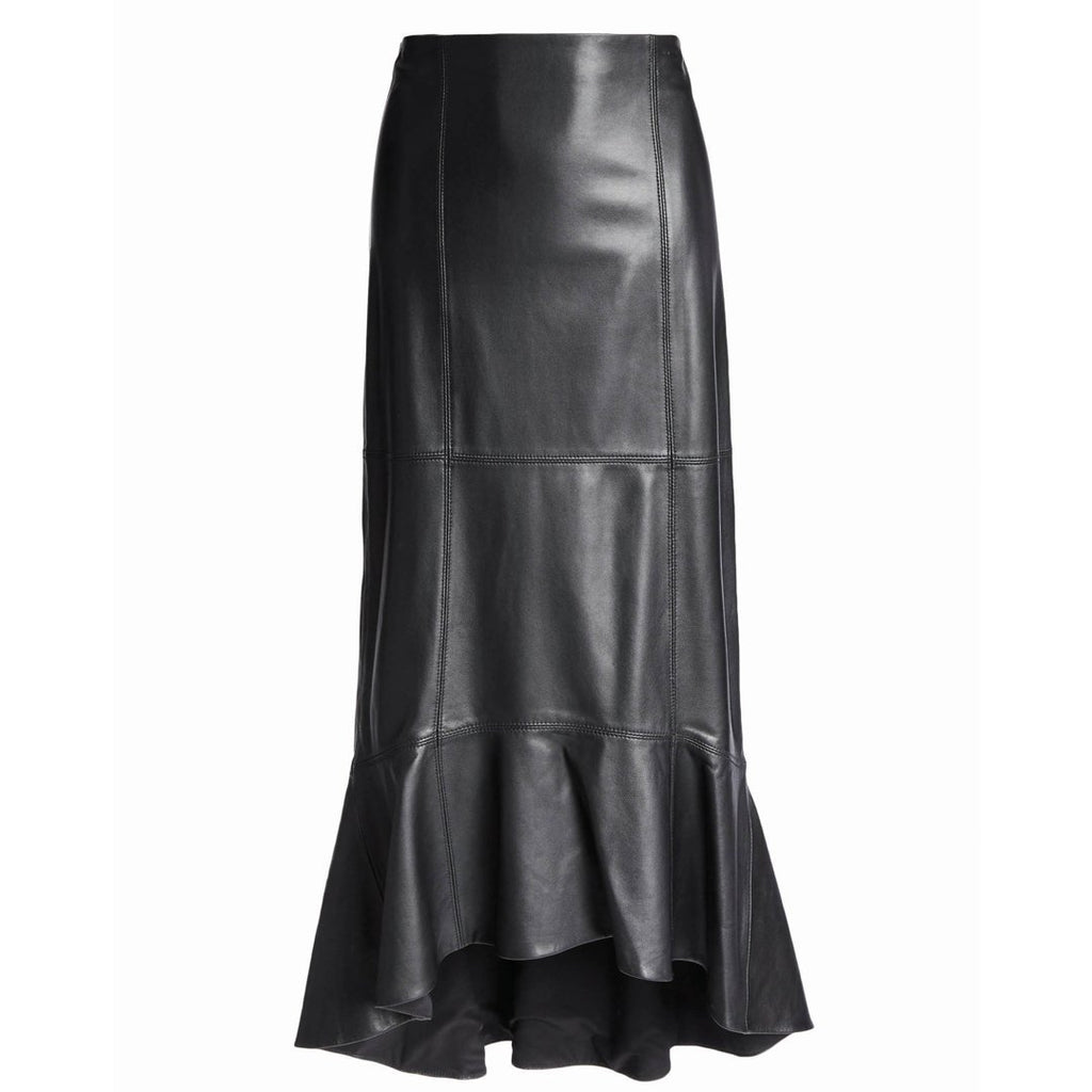 Skyla Leather Midi Skirt