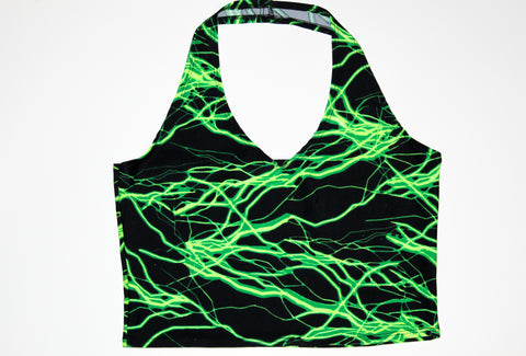 Green Lightning Halter