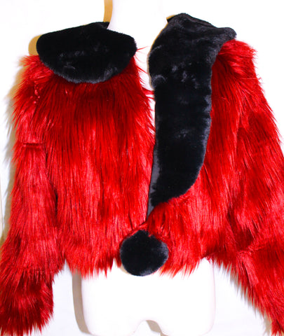 Tipped and Dipped Fur Coat