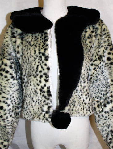 Snow Leopard Tipped and Dipped Fur Coat