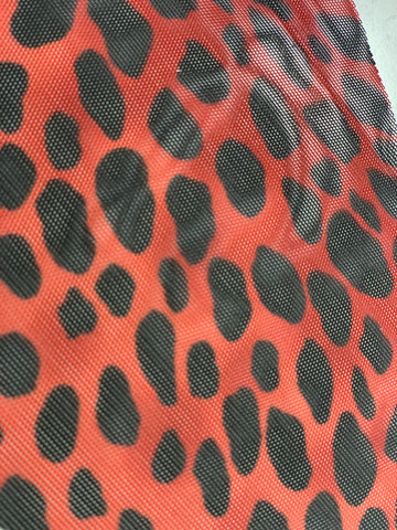 Red Leopard Mesh Triangle Top