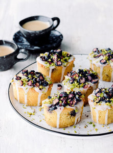Polenta, Lime & Blueberry Cakes