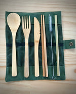 7-piece Bamboo Travel Cutlery - Refill Nation