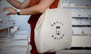Refill Nation  Cotton Canvas Tote Bag - Refill Nation