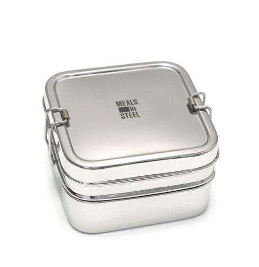 Double Layer Square Lunchbox - Refill Nation