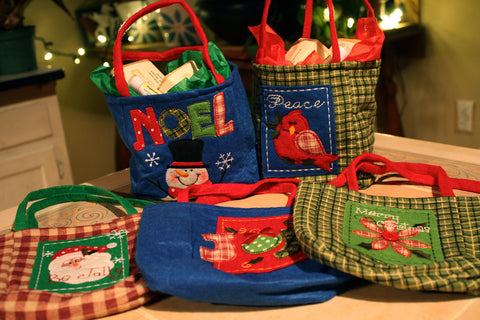 cloth holiday gift bags