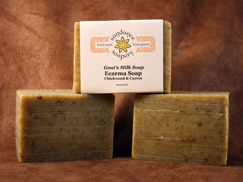 Eczema Soap Chickweed & Carrot with Lavender & Tea Tree Essential Oils