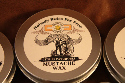Nobody Rides For Free Mustache Wax 4oz