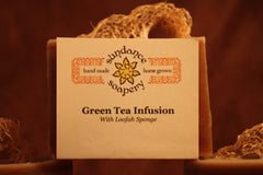 Green Tea Infusion Loofah Bar