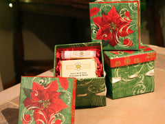 Pretty Poinsetta Gift Box