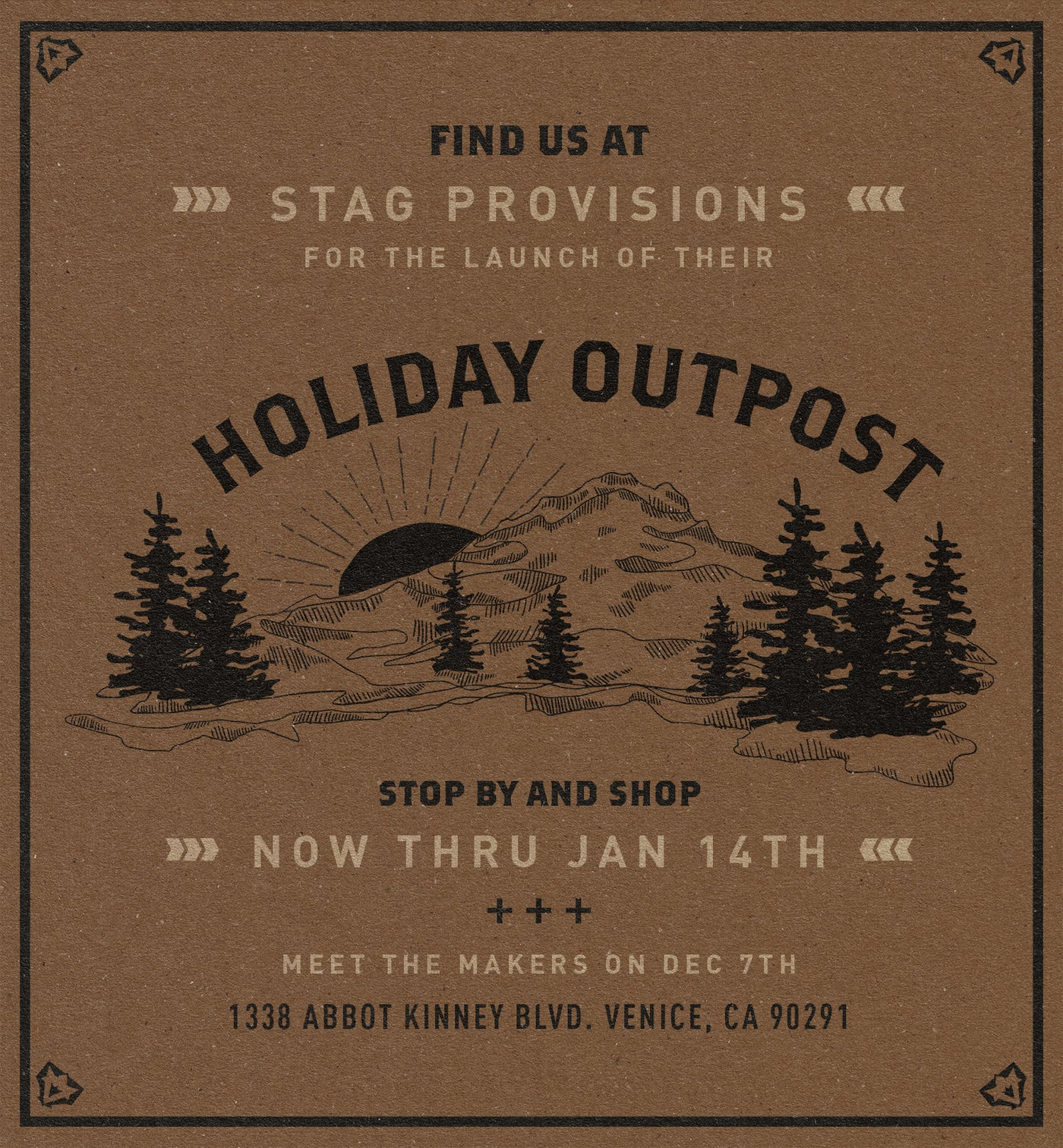 Holiday Outpost at STAG Venice