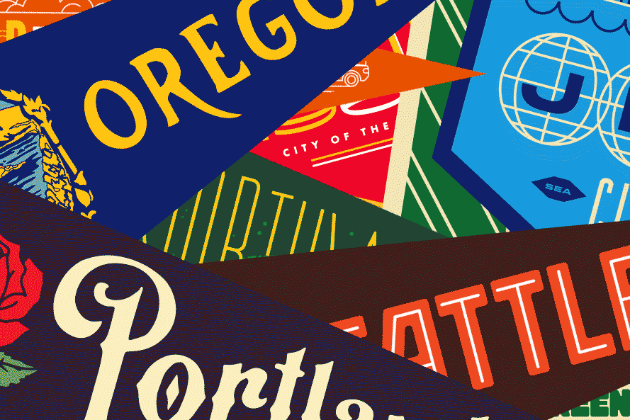 Oxford Pennant Pop-Up at Downtown Portland Bridge & Burn