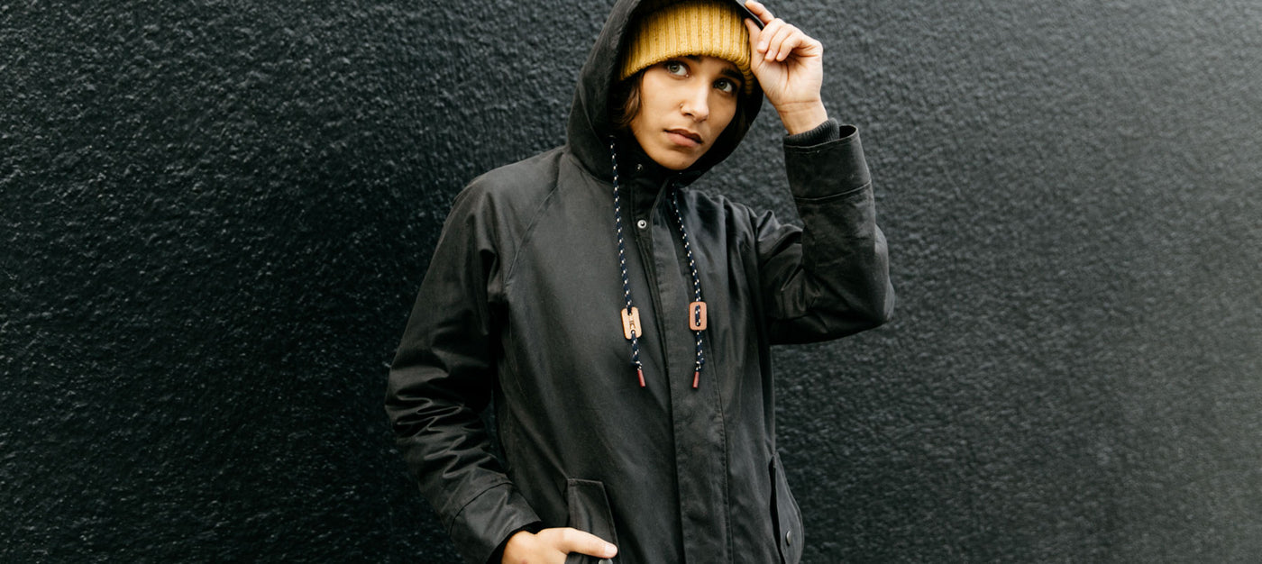 Bridge & Burn women's waxed canvas jackets