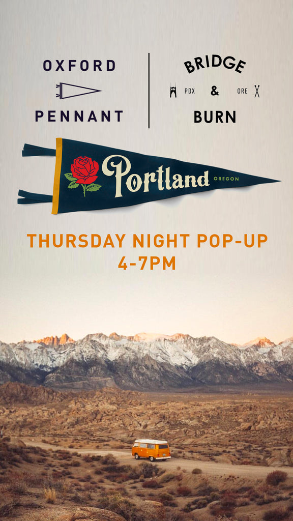 Oxford Pendant Pop Up in Portland