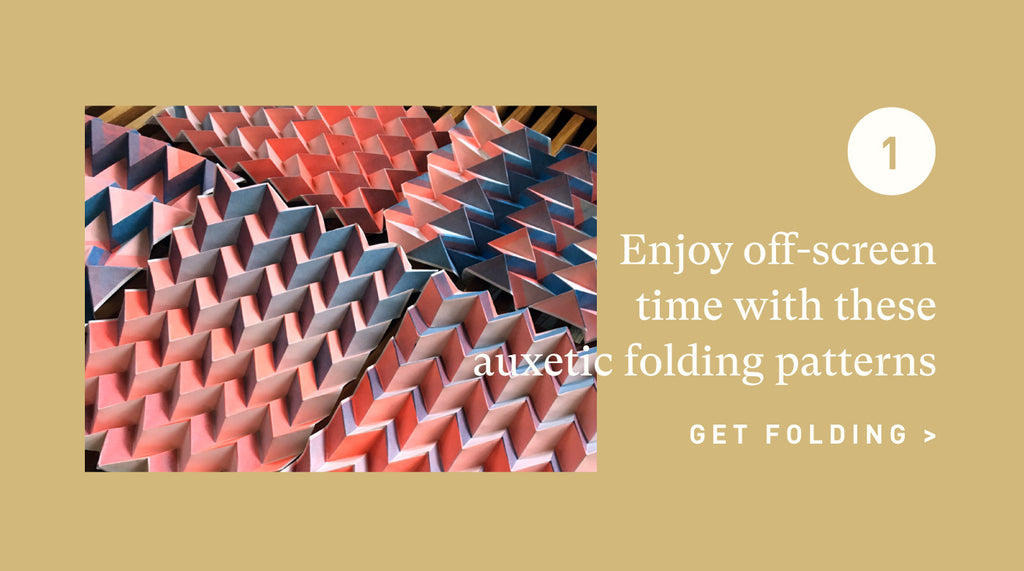 Auxetic Paper Folding Patterns