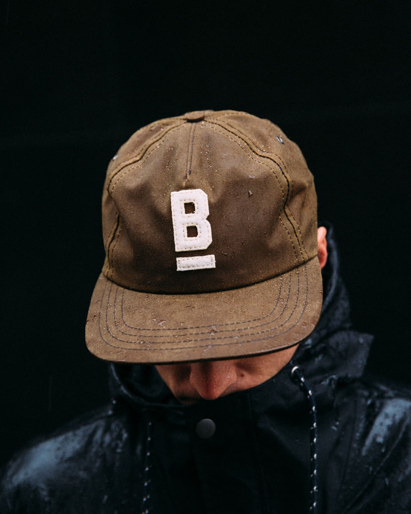 British Millerain Waxed Canvas Ball Cap