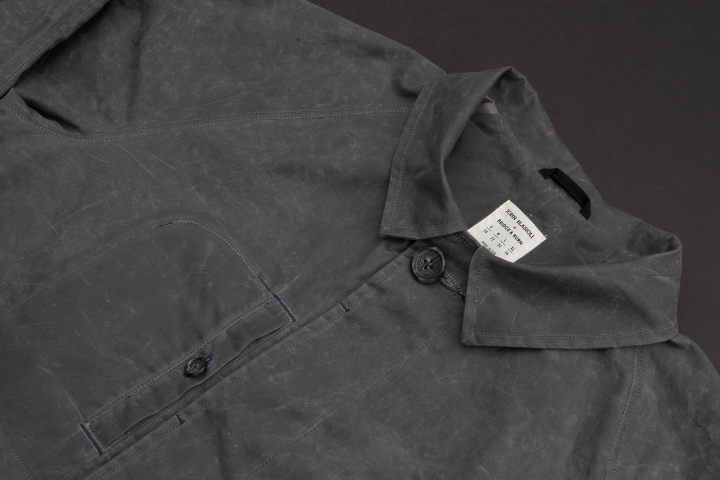 John Blasioli x Bridge & Burn Waxed Cotton Trench Coat