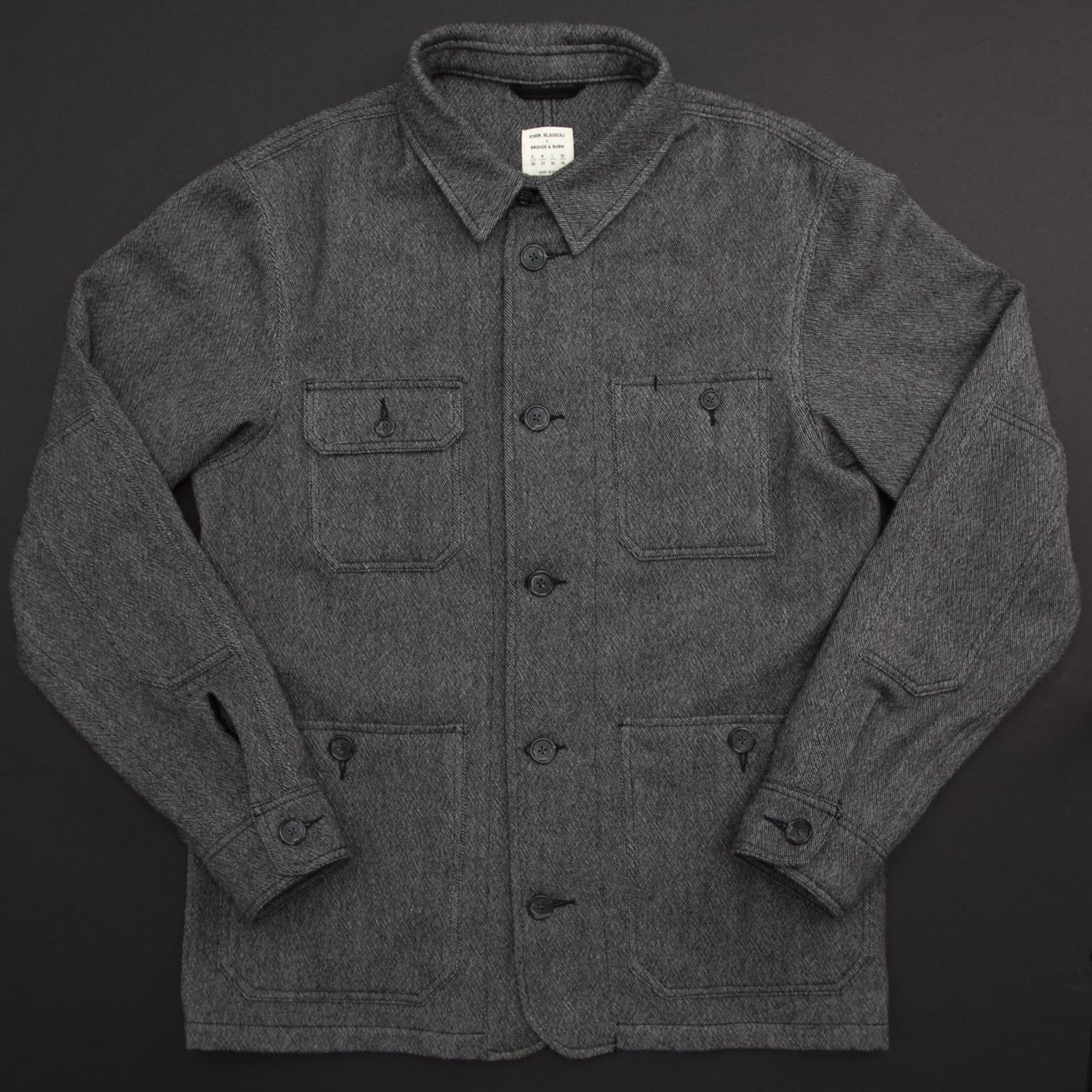 John Blasioli x Bridge & Burn Wool Overshirt