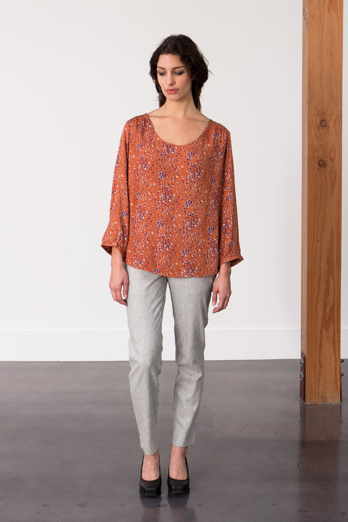 Bridge & Burn Fall 2015 Blouse and Wool Pants