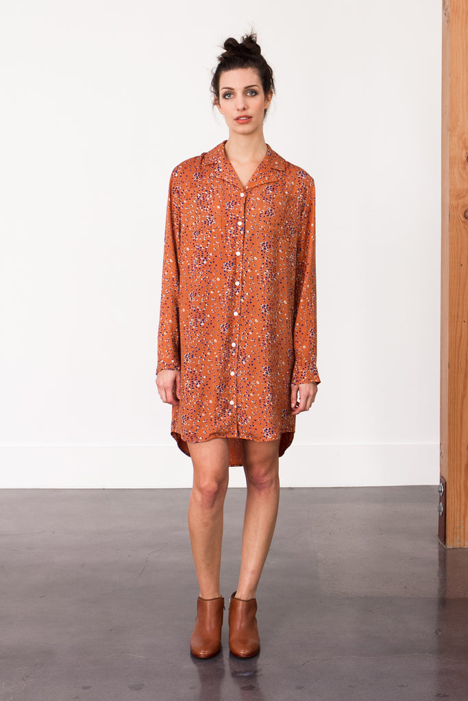 Bridge & Burn Leopard Dot Shirtdress