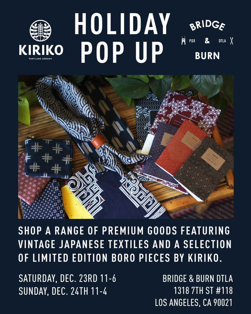 Kiriko Holiday Pop Up Shop in downtown Los Angeles