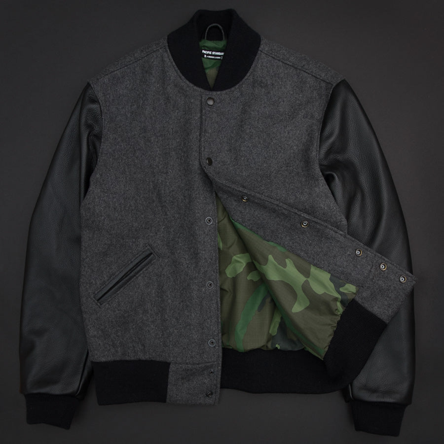 Pacific Standard Varsity Jacket with Camouflage Lining
