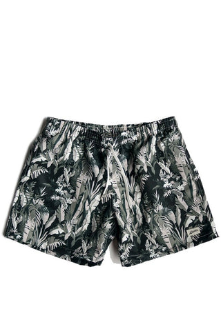 Bather Boardshorts Green Tropical Forest