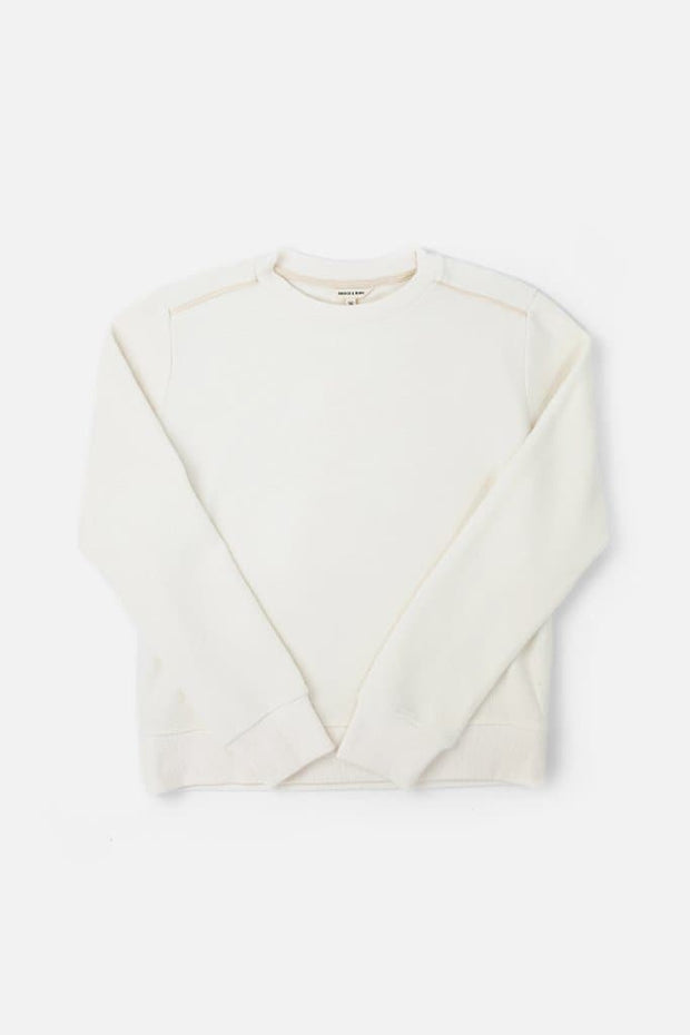 Bridge & Burn linnton off-white women's plain crew neck sweatshirts