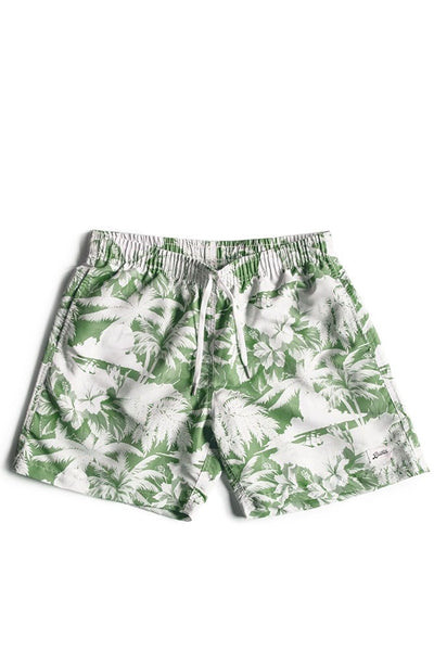 Bather Boardshorts Green Aloha
