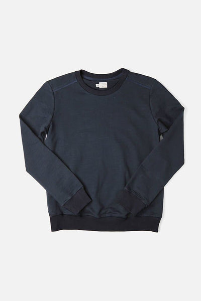 Bridge & Burn linnton navy women's plain crew neck sweatshirts