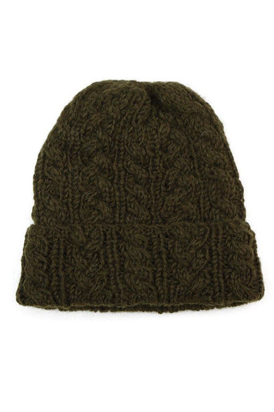 Cable Knit Watch Cap Forest