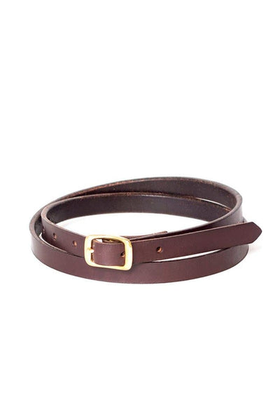 Wood&Faulk Matchstick Belt Dark Brown