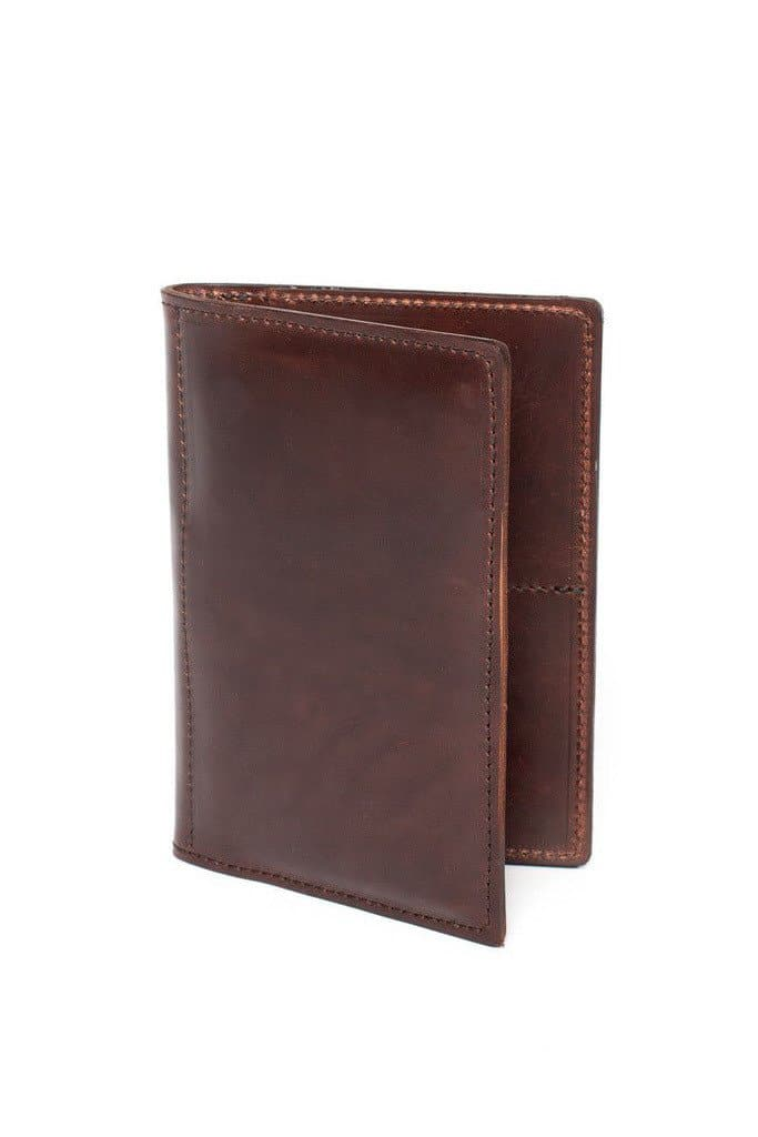 Wood&Faulk Traveler Wallet Dark Brown