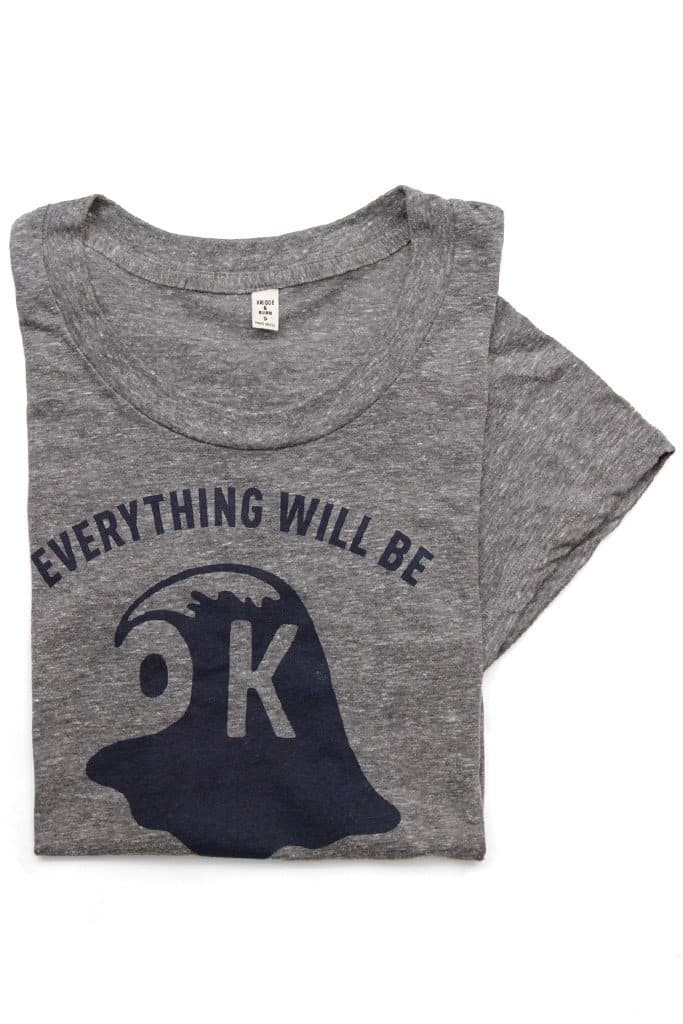 Everything Will Be OK Wave Grey Tee