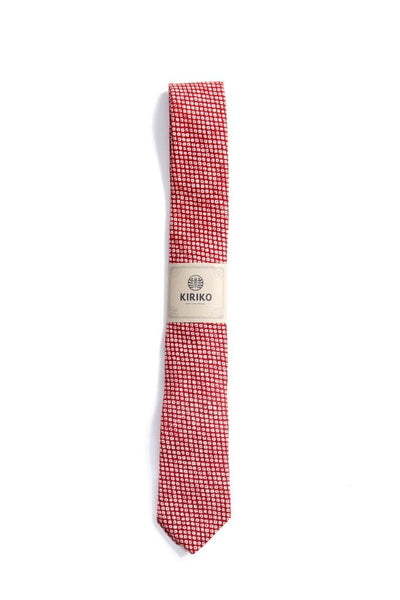 Kiriko Japanese Fabric Shibori Red Tie