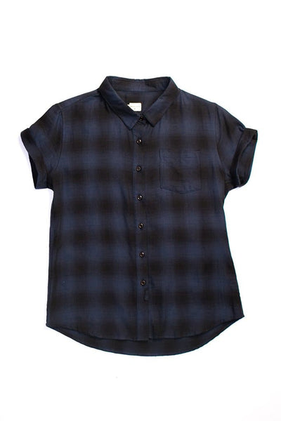 Bea Navy Shadow Plaid