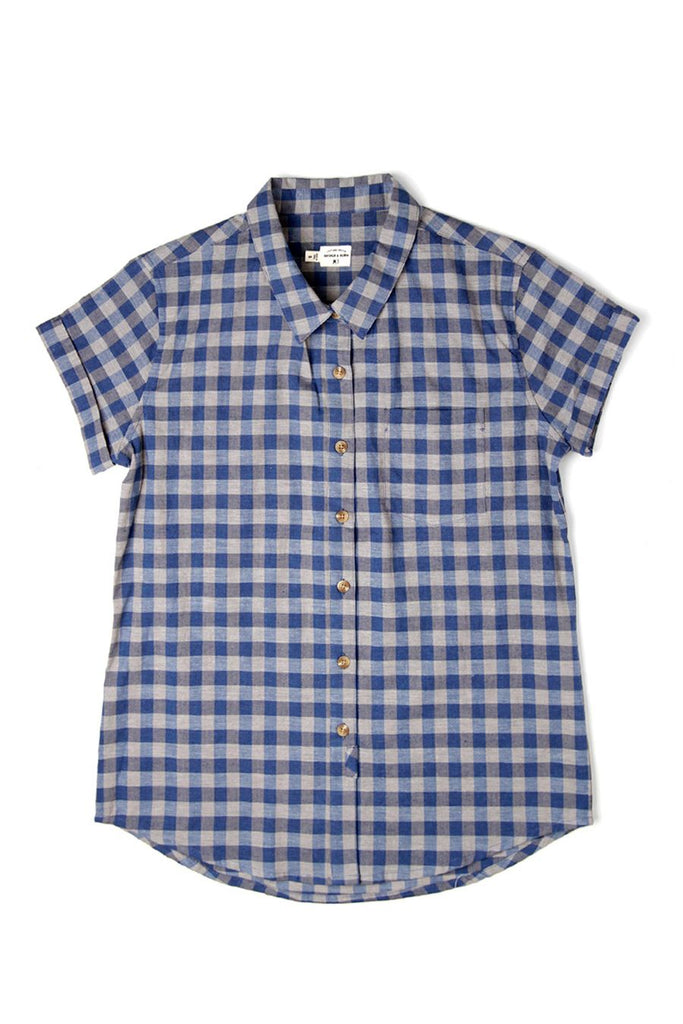 Bea Blue-Grey Gingham