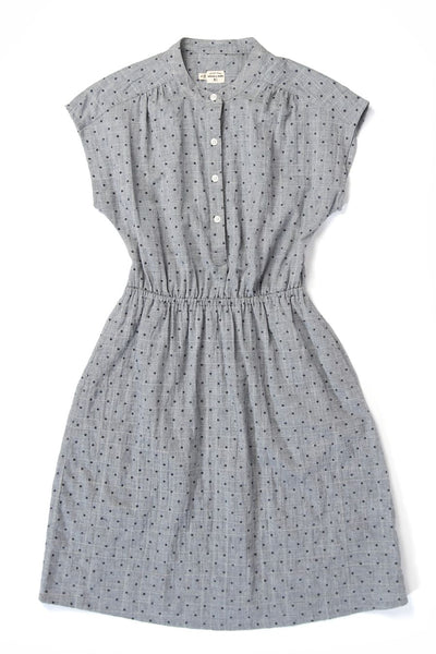 Lorane Textured Chambray Dot