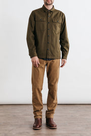 Crest Olive Bridge & Burn men's canvas overshirt
