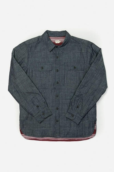 Russell Denim Bridge & Burn men's quilted lined overshirt